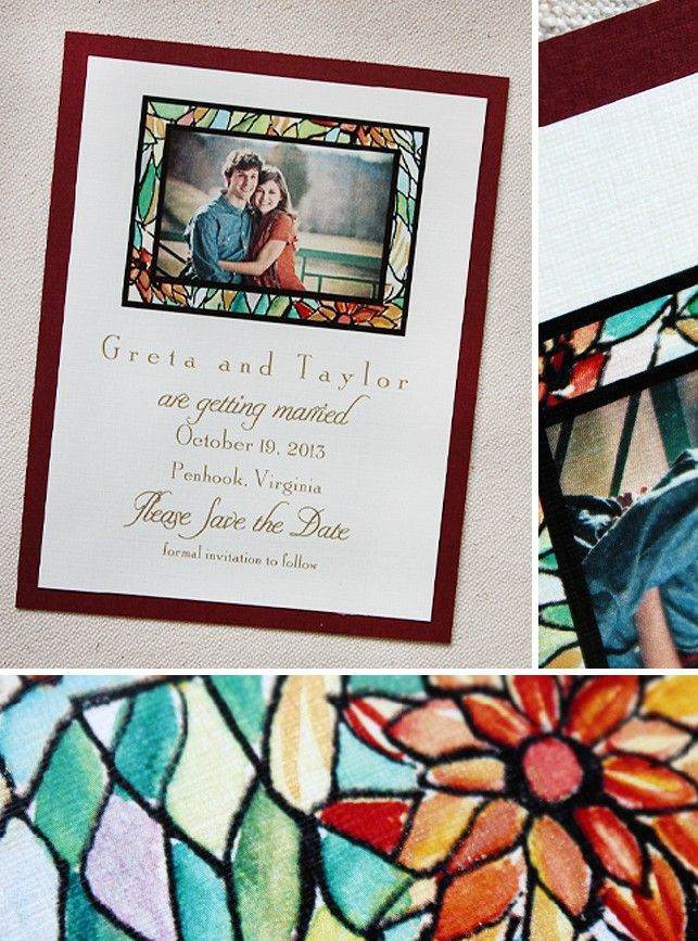 Stained Glass Invitation X Wedding Pinterest Glass Stained