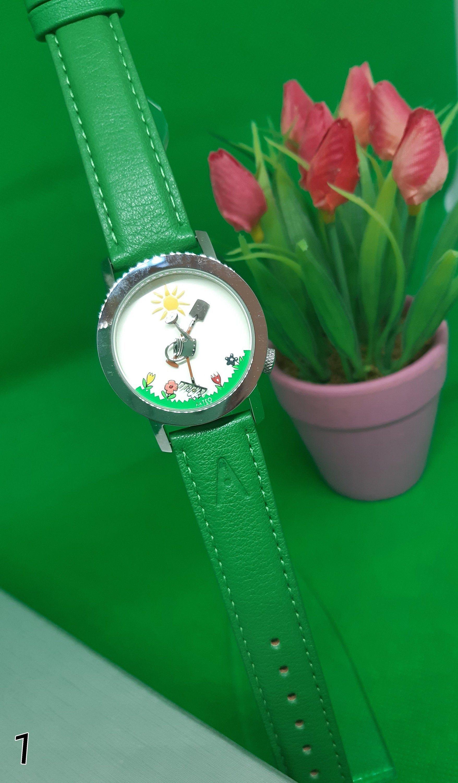 Akteo 90s 90er Retro Garten Gartner Blumen Pflanzen Leather Watch Leather Accessories