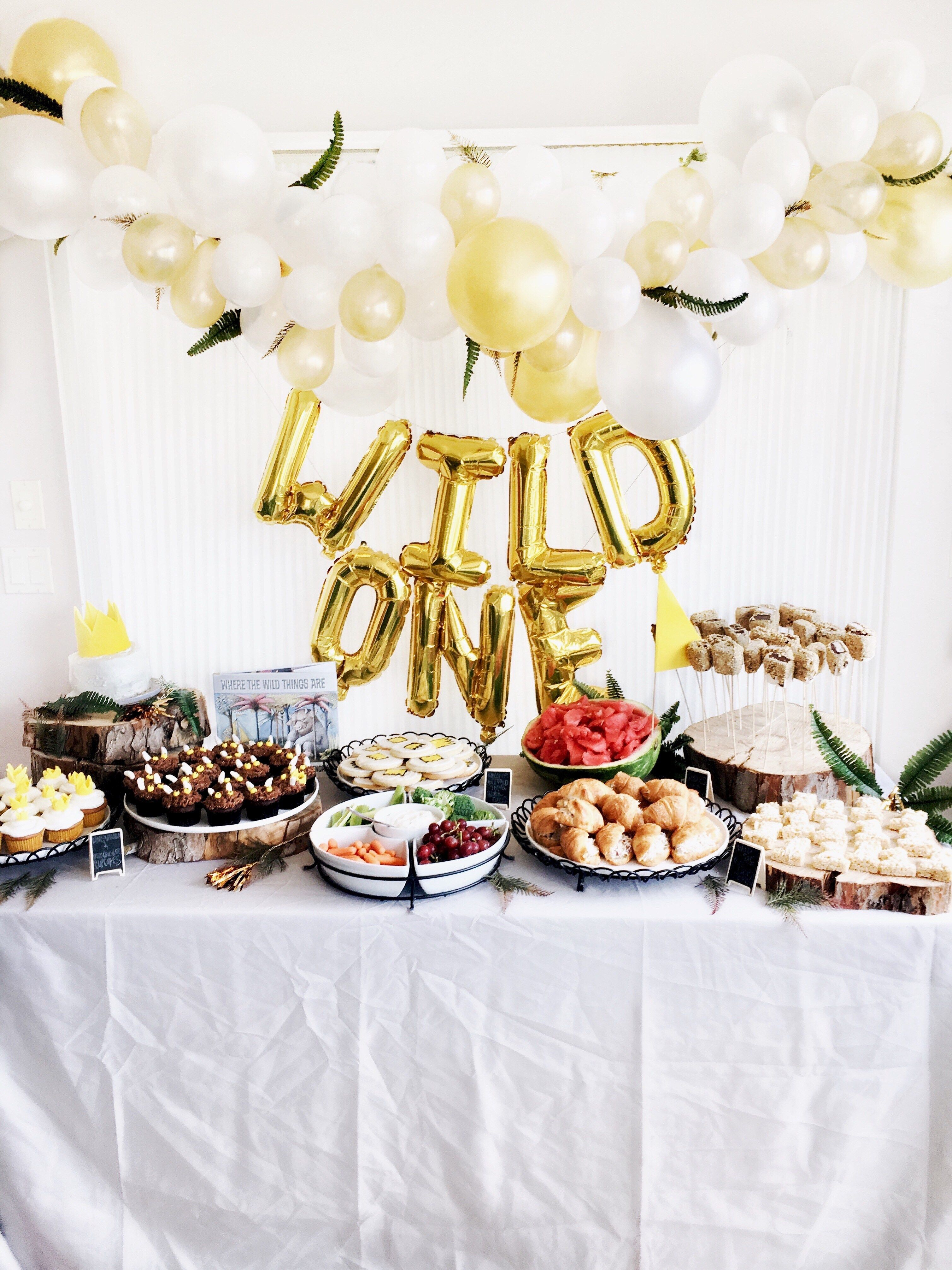 Jamies diy where the wild things are first birthday party