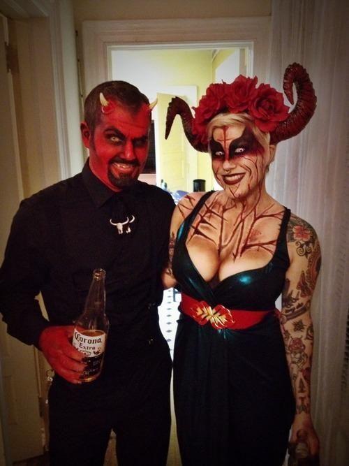Teufel Kostüm Selber Machen Halloween Make Up Dresses Teufel