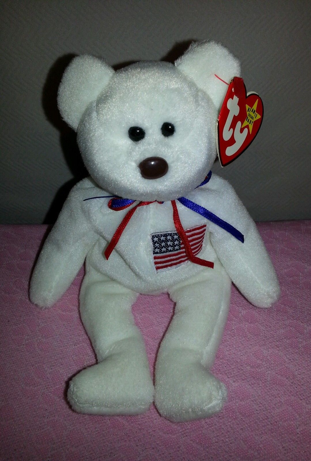 97ee73104b2 Libearty the Red White   Blue USA Bear w  Flag on Chest. Find this Pin and  more on Ty Beanie Babies ...
