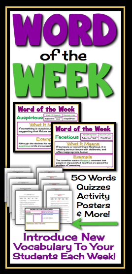 Word Of The Day / Week: Vocabulary