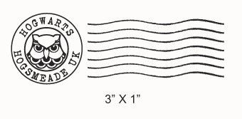 Hogwarts Postmark And Owl Post Faux Postage Stamp Rubber Stamps Set 215 From Asspocketproducti Harry Potter Owl Harry Potter Etsy Harry Potter Subscription Box