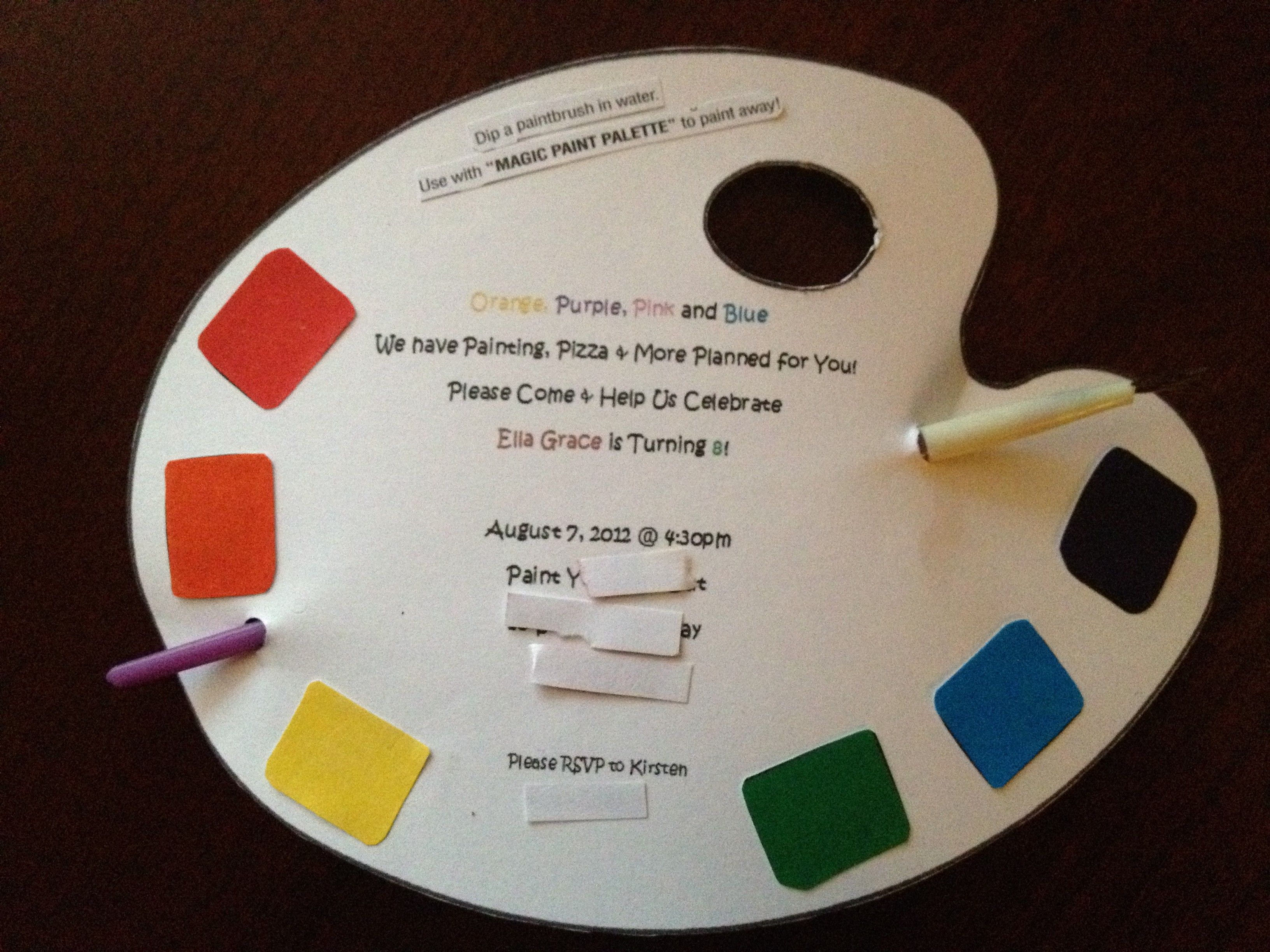 Day 7: Art Party Invite | Art party, Art party invitations and Party ...