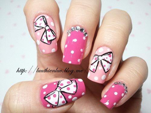 Fotos de uñas pintadas color rosa – 50 ejemplos | Pintar Uñas - Pink ...