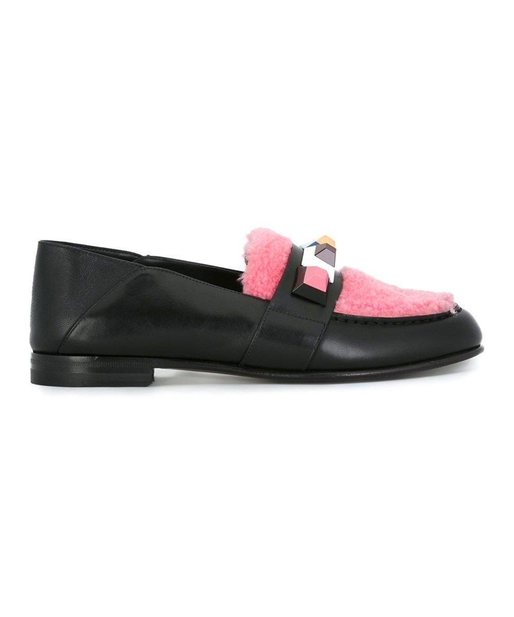 Fendi shoes, Loafers, Leather loafers