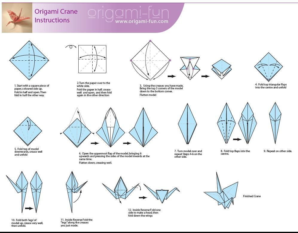 The Japanese Believe A Story That Folding 1000 Origami Crane How To Make Fun And Easy Kids Project With Diagram