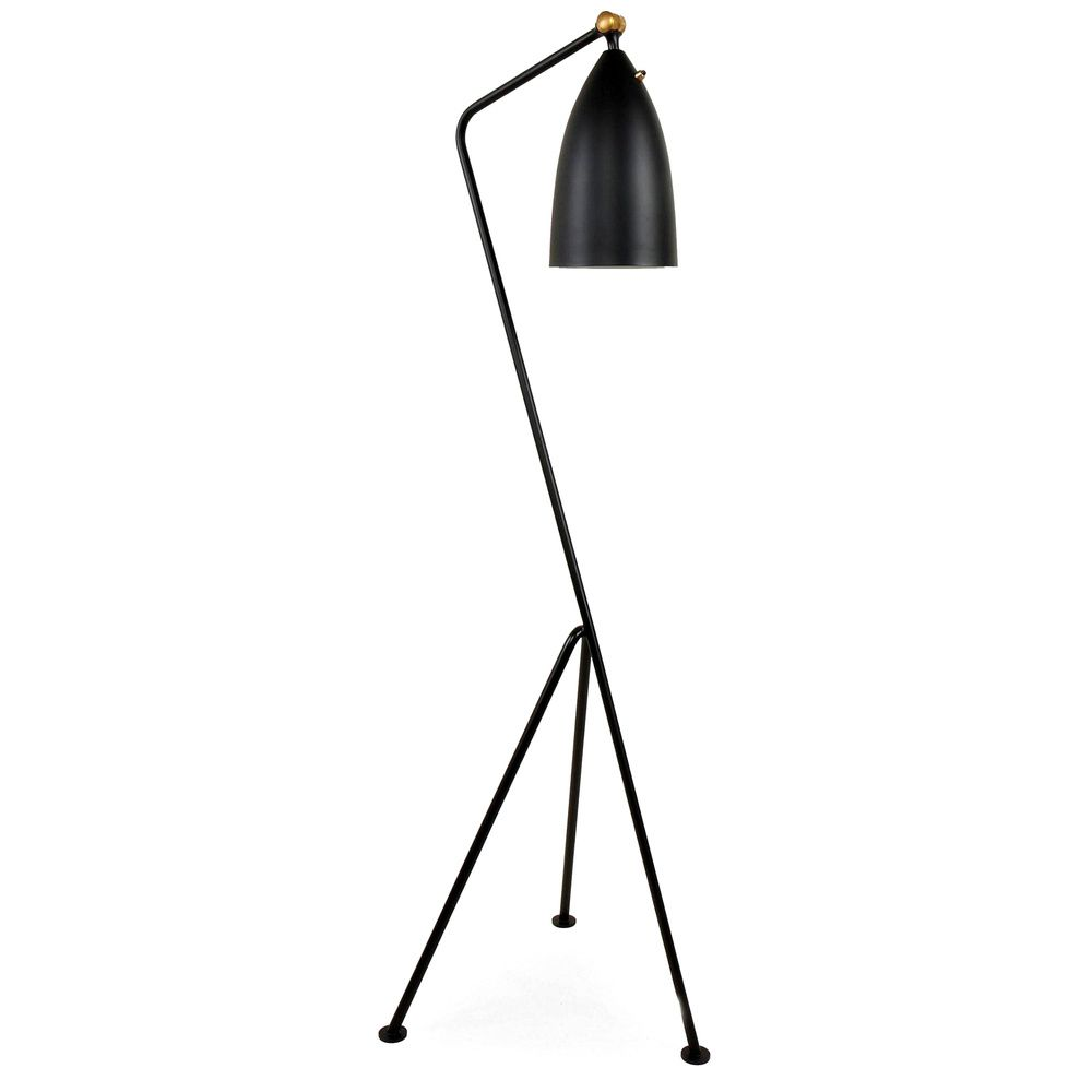 Grasshopper 1 Light Black Floor Lamp | Overstock.com Shopping   The Best  Deals