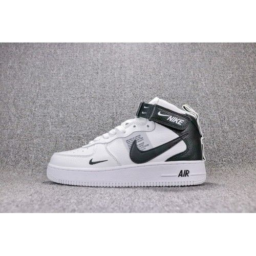 2507dcfa51229 New 2018 Cheap Nike Air Force1 AF1 High Top Shoes For Women Men White Black  Sale