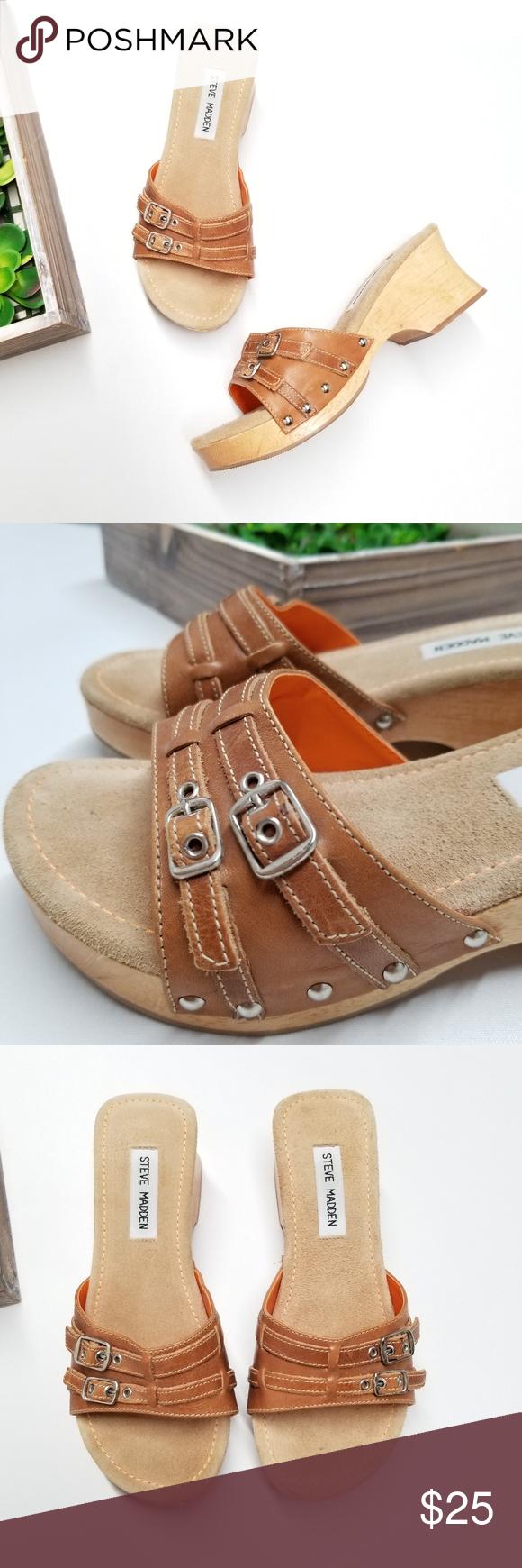 2d21751ce6c Steve Madden Brat Wooden heel sandals Steve Madden Brat Wooden heel ...