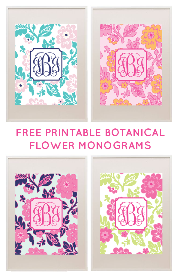 free printable floral monograms from printablemonogram com