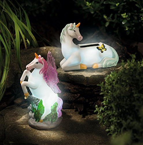 Solar Mystical Unicorn Novelty Garden Lights Twin Pack Direct