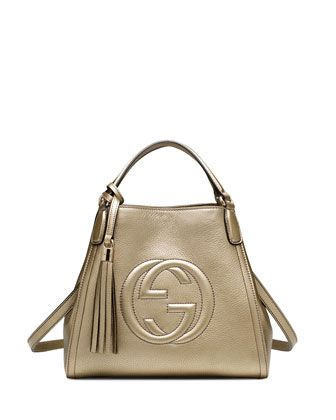 Soho Leather Shoulder Bag, Gold by Gucci at Neiman Marcus.