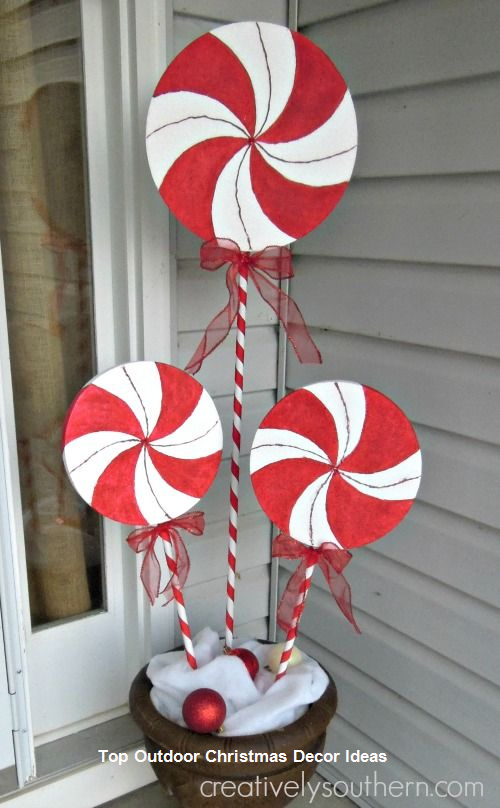 50 Best Candy Cane Christmas Decorations Which Are The Sweetest Things Y Christmas Decorations Diy Outdoor Outside Christmas Decorations Outdoor Christmas Diy
