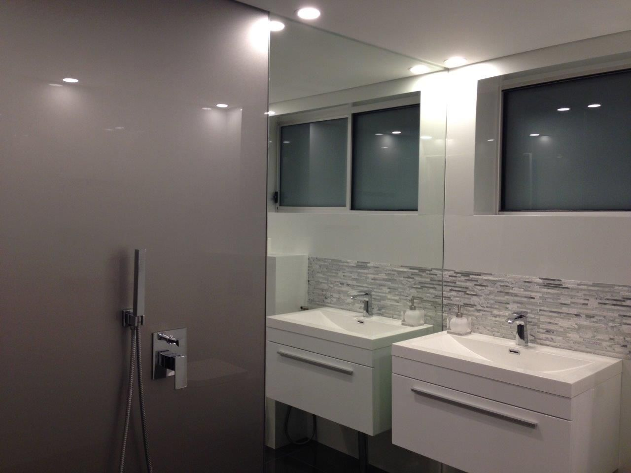 acrylic panels for bathroom walls%0A Bathroom  Shower In Acrylic  Walls ind Metaline And Tiles around the basin  and floor