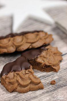Weihnachtsplätzchen Schokoladenplätzchen.Wiener Schokolocken Ros Recipez Plätzchen Mürbeteig Rezept