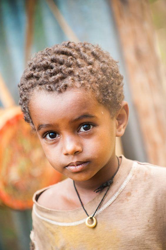 "PHOTOGRAPHER: Unidentified ~ ""Portrait of an unidentified Ethiopian boy"""