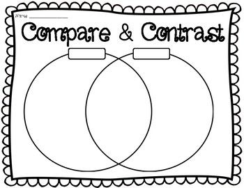 Compare and contrast venn diagram comparing & contrasting