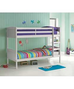 Buy Argos Home Detachable White Bunk Bed Frame Kids Beds White Bunk Beds Bunk Beds Single Bunk Bed
