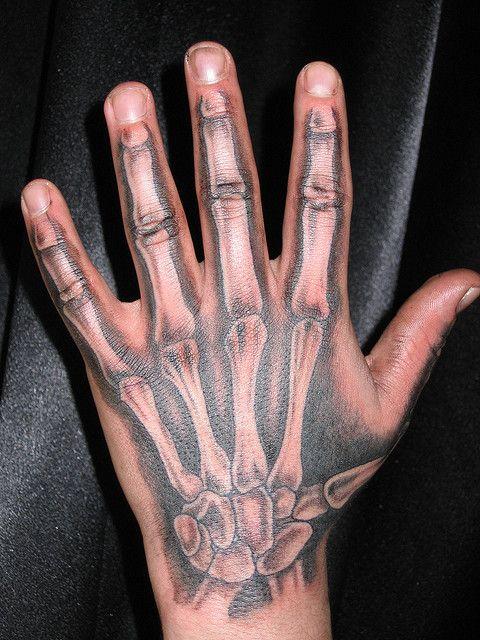 Hand Bones Tattoo By Matt Hixson Via Flickr Hand Tattoos Skeleton Hand Tattoo Hand Tattoos For Girls