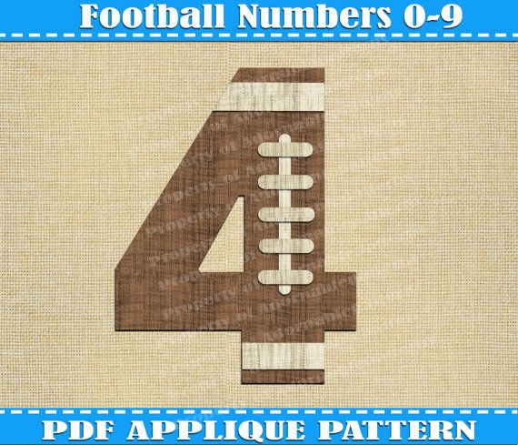 Football Numbers Appliqu 233 Pattern Sports Numbers Team