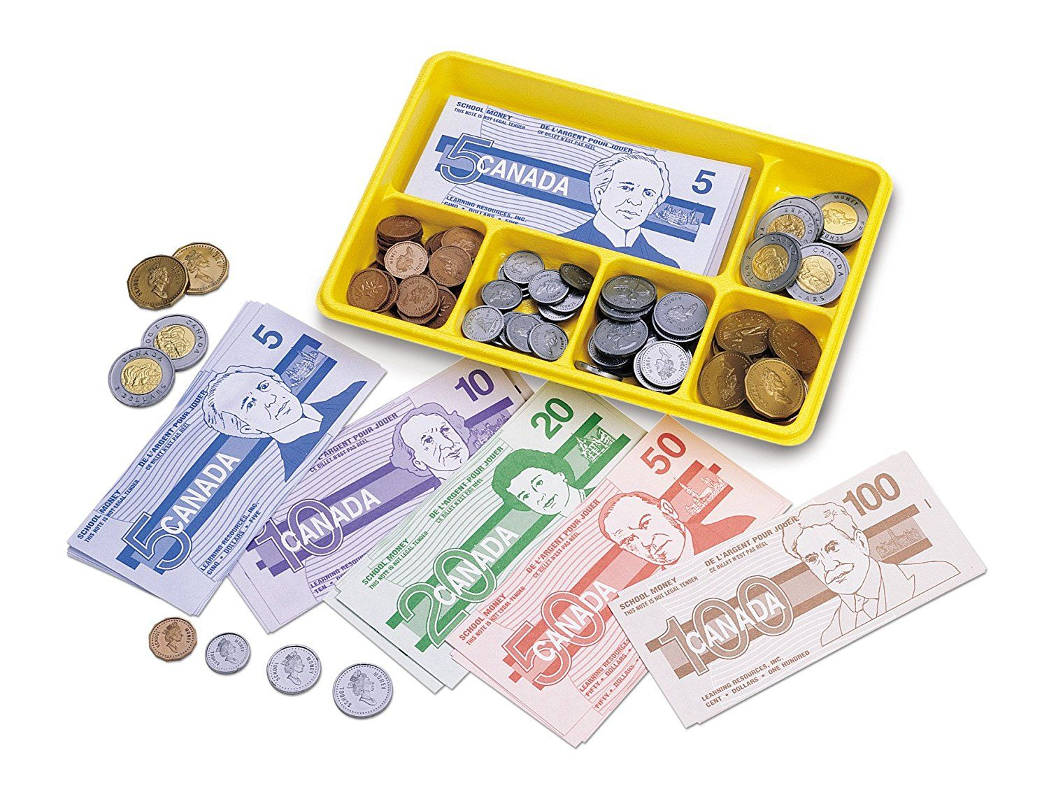 Learning Resources Canadian Currency X Change Activity Set