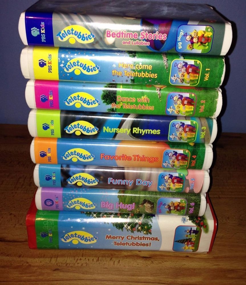 Lot Of 8 Teletubbies VHS Video Tapes