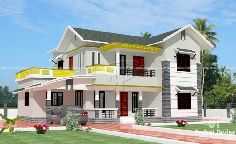 Amazing Double Storey House With Terrace Ulric Home House Roof Design Double Storey House Modern House Design