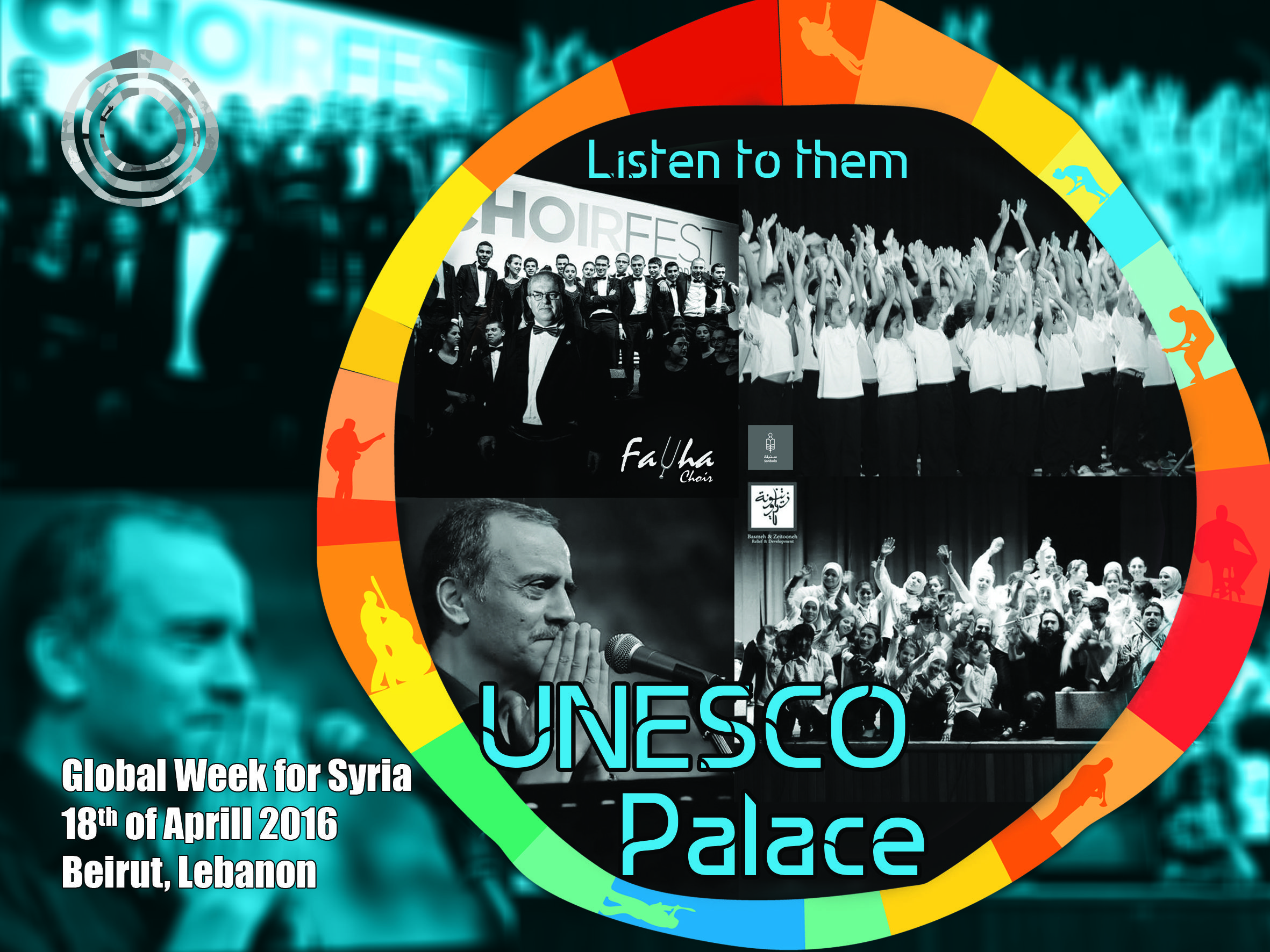 On April 18th The Big Opening Will Be In Unesco Palace Beirut Sonbola Children Choir Chants Peace Accompanied By Award Winning Fayha Choir With Guest Of Honor