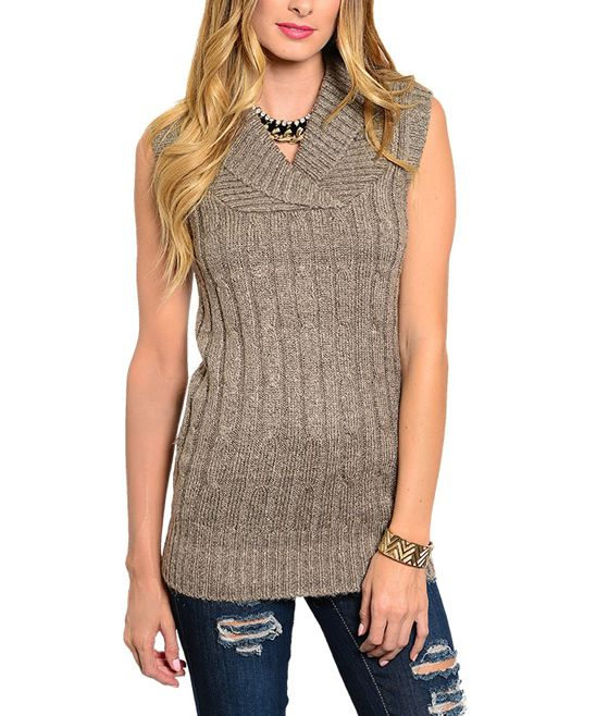 Coffee Cable Knit Sleeveless Sweater My Shopping Cart Pinterest