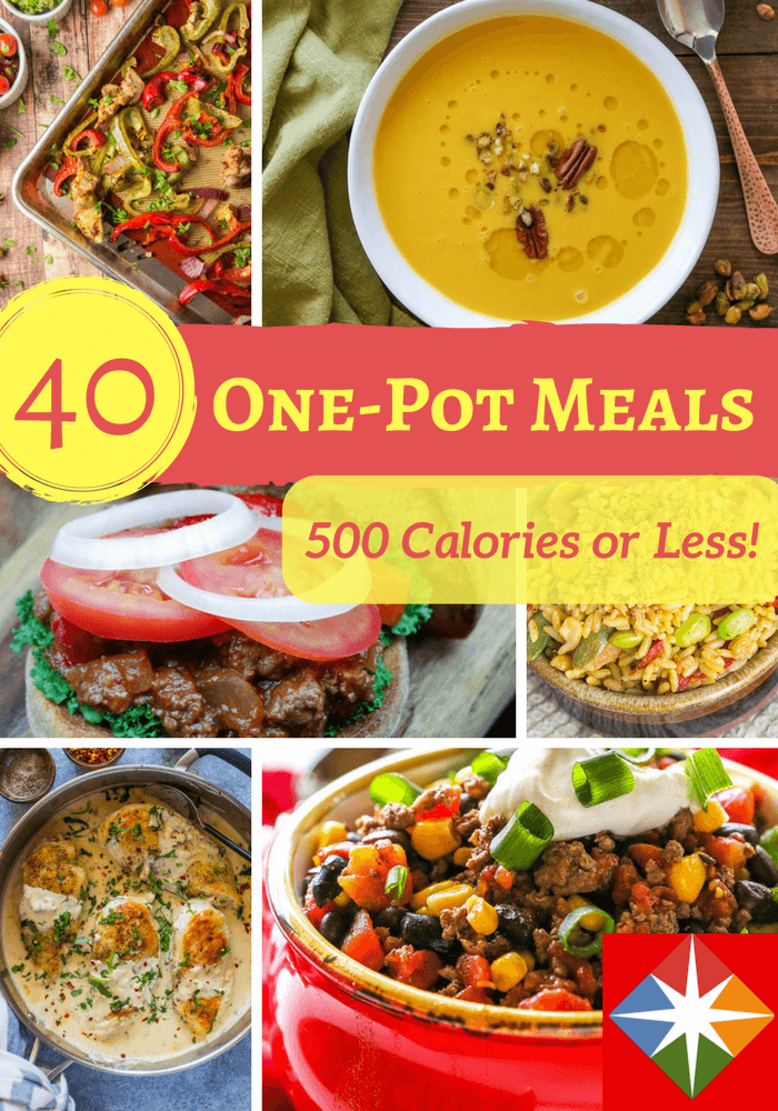 40 One Pot Dishes With Less Than 500 Calories Meals Under 500 Calories 500 Calories Or Less Meals 500 Calorie Meals