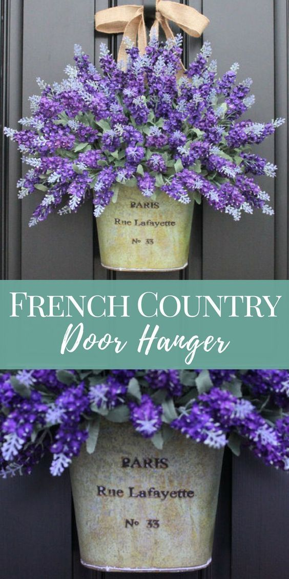 French Country Lavender Door Hanger French
