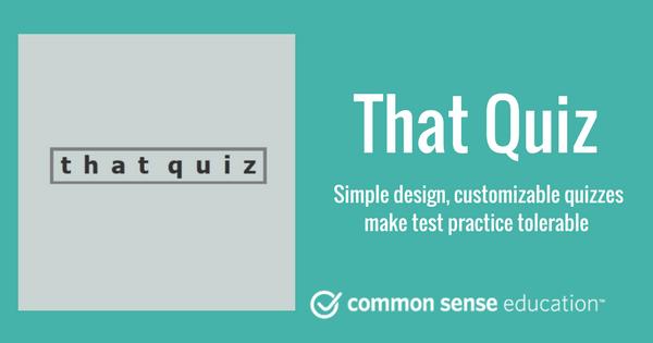 That Quiz Review for Teachers | Common Sense Education in ...