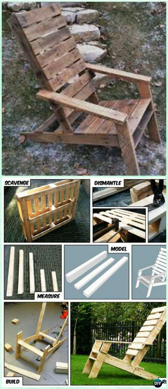 Diy One Pallet Adirondack Chair Free Plan And Tutorial Diy Pallet Projects Diy Pallet Furniture Pallet Diy