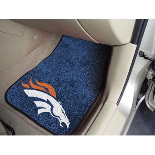 Denver Broncos Nfl Car Floor Mats 2 Front Nfl Car Nfl Denver Broncos Denver Broncos Gear