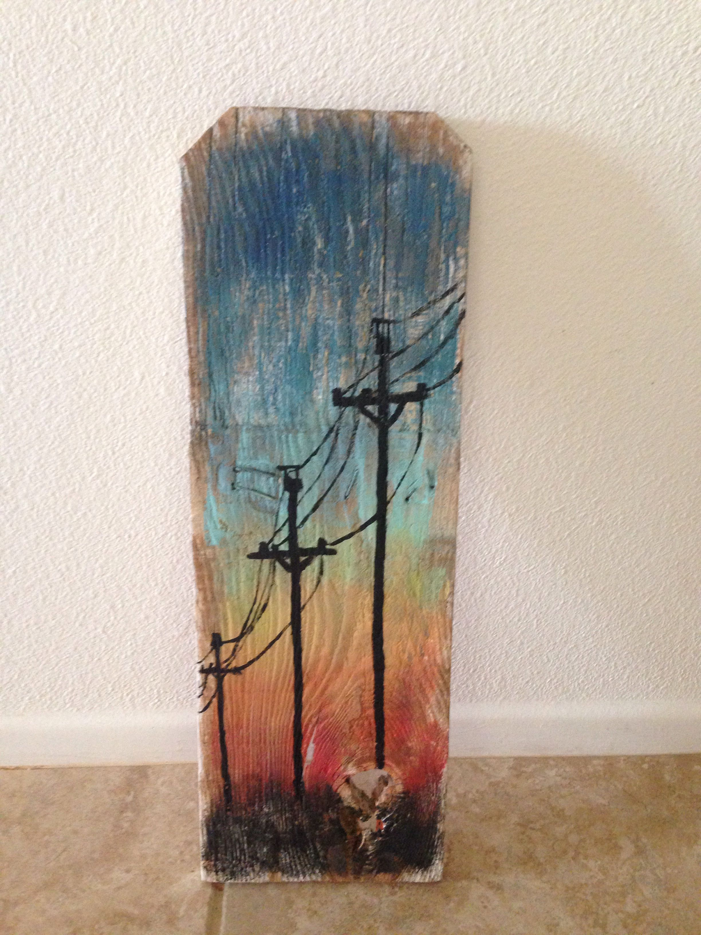 Modern Art Metal Pole