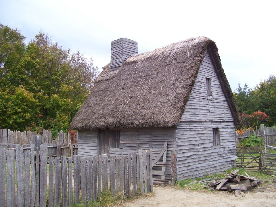 Recreated Early Settlers Home At Plymouth Plantation Eco
