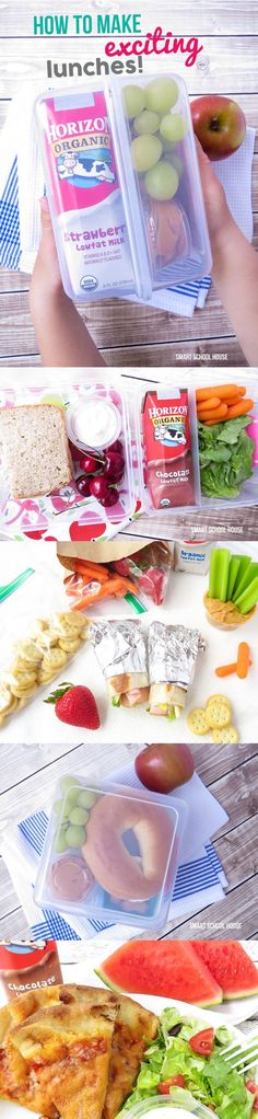 Healthy Back to School Lunches you can prep the night before! Kids will love these!