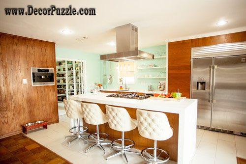 Mid Century Modern Kitchen Decor Furniture Fantasy River White Granite  Countertops Interiors