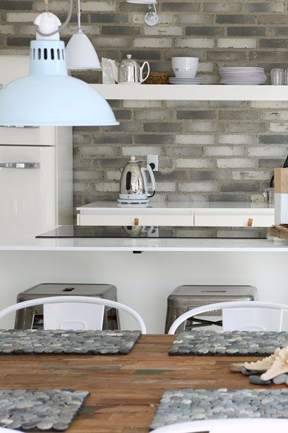 Best Backsplash Thin Brick Veneer Grey White So13 400 x 300