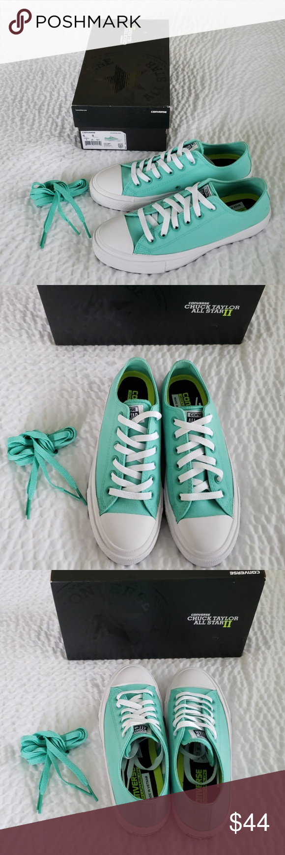 cdc4434998dc Teal Converse (Lunarlon) New in box Converse Teal Navy WH Women s size 8. Mens  size 6. These are so darn awesome! Bought them and never wore them.