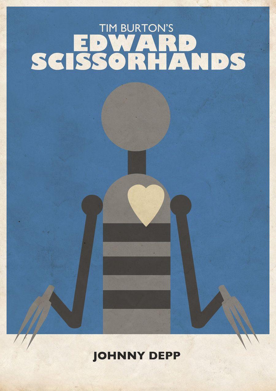 Tim Burton S Edward Scissorhands Minimalist Poster Edward