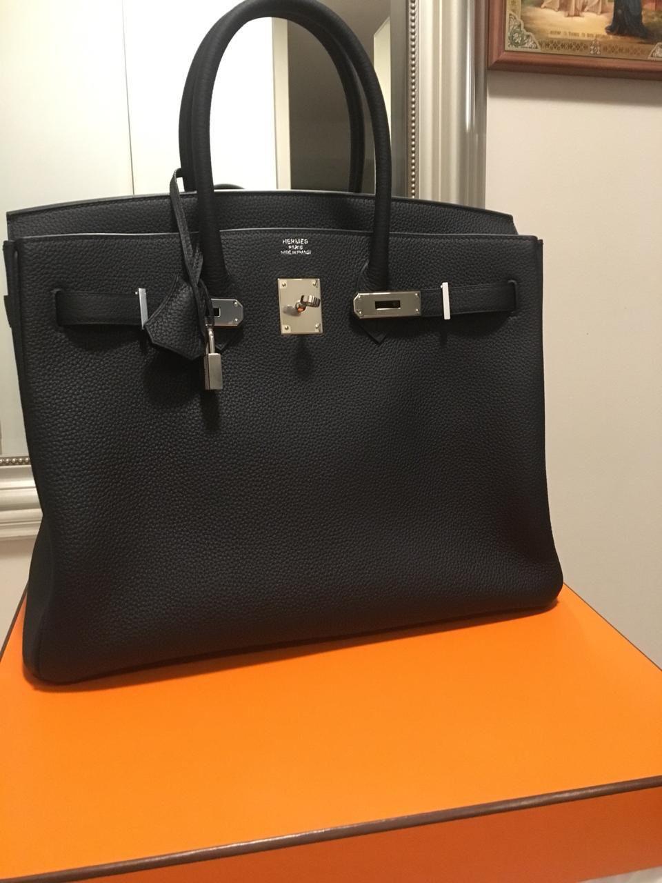 81b8df15953 Hermès Birkin 35 Noir (Black) Togo Palladium Hardware PHW C Stamp 2018   birkin35