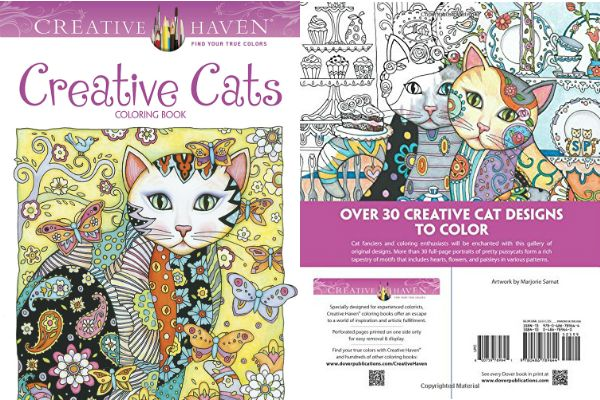 Creative Cats Coloring Book Answers the Question – Where's the Beef?