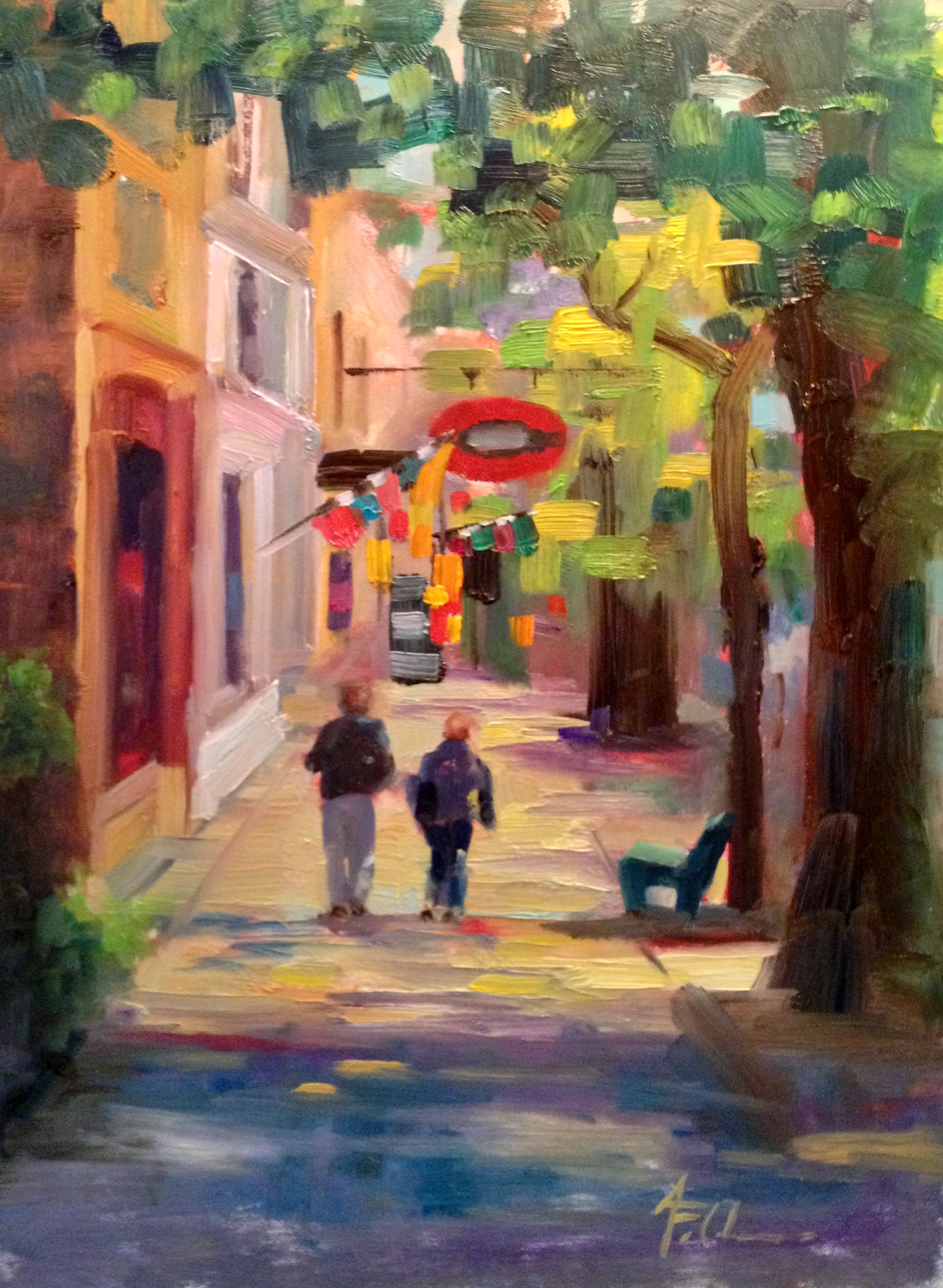 """""""Harbor Town"""" at Button Petter Gallery in Saugatuck, Michigan"""