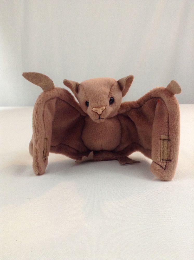 3391b1dbfb1 1996 Ty Beanie Baby Batty The Brown Bat Stuffed Plush Animal Toy With Tag   Ty