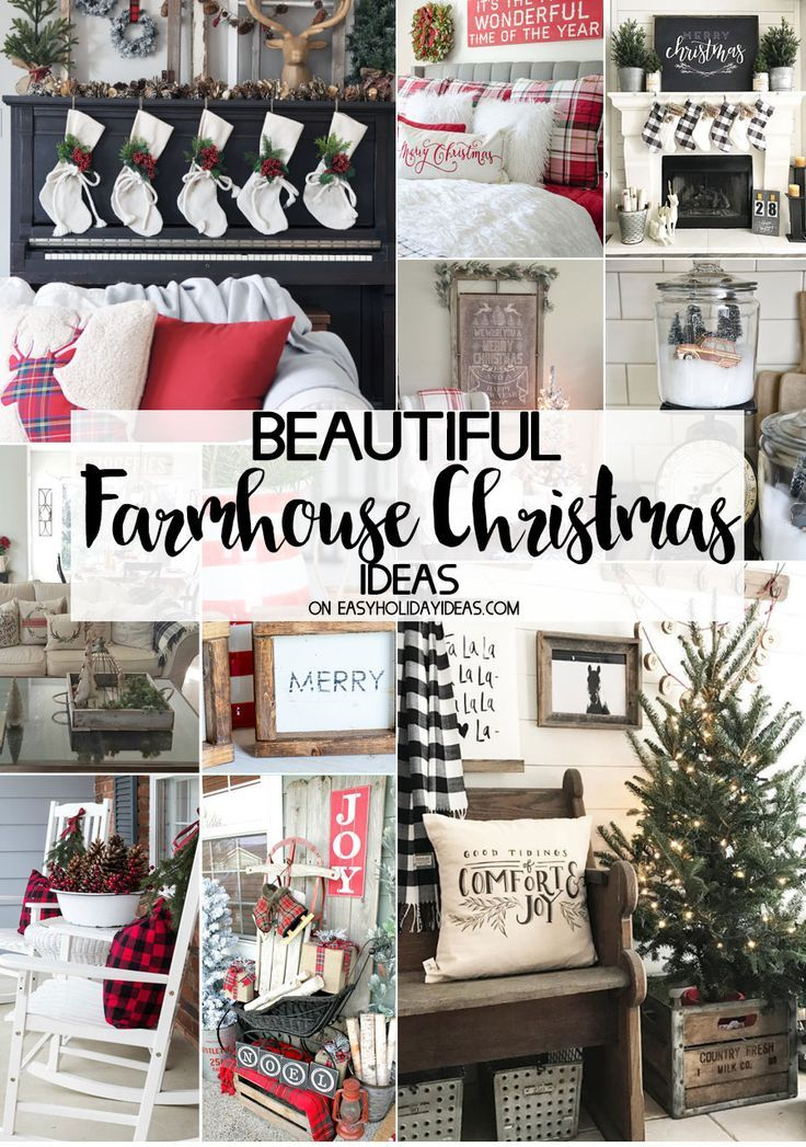 beautiful farmhouse christmas ideas to decorate your home we have gathered the best so theres sure to be a favorite decorating idea here for everyone