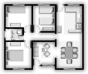 Modelos de 60 metros cuadrados llave en mano de casa hauss - Planos de casas americanas ...
