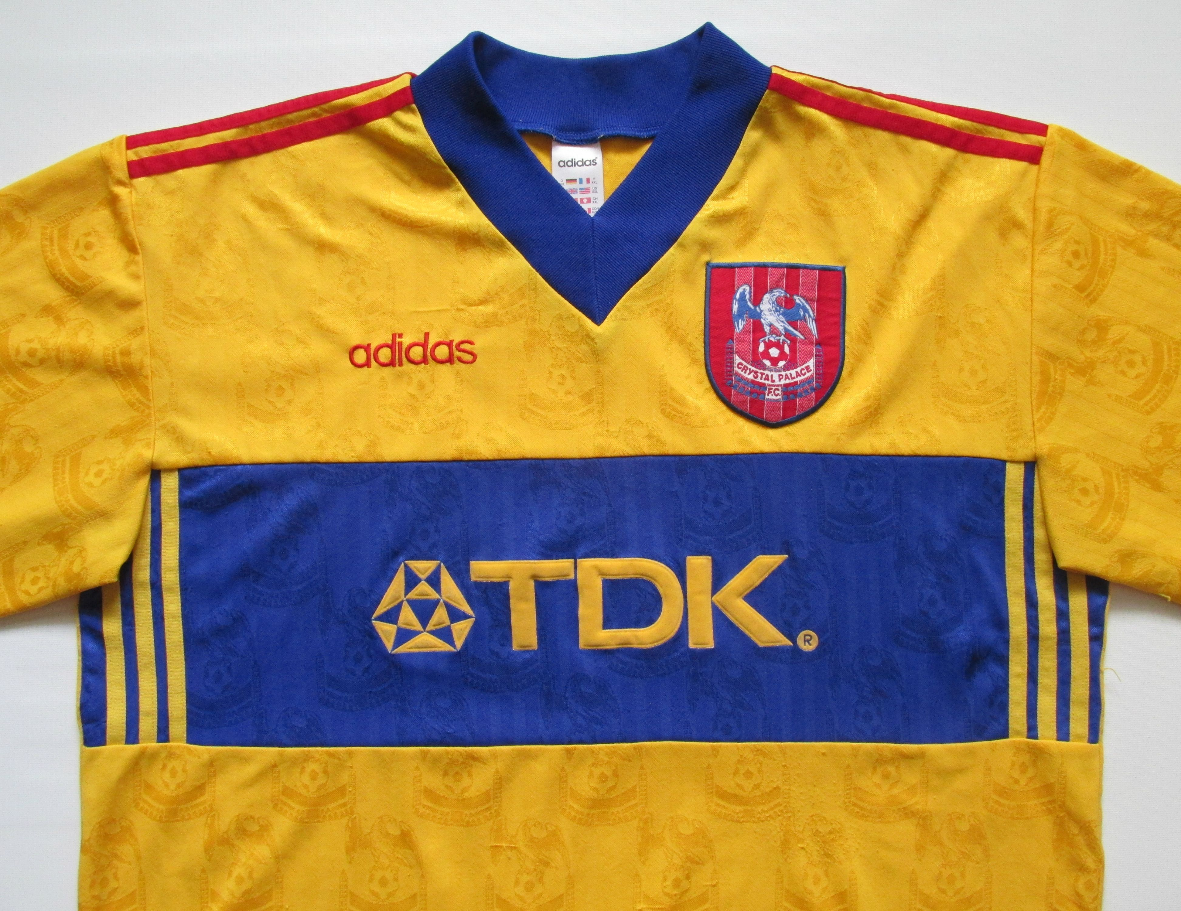 dde4ee712c26 Crystal Palace 1997 1998 away football shirt by Adidas vintage vtg retro  90s jersey soccer  Palace  CrystalPalace  adidas  adidasvintage  vintage ...