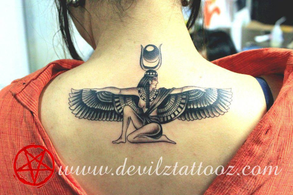 Goddess Spine Tattoo: Egyptian Goddesses